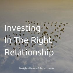 Investing In The Right Relationships